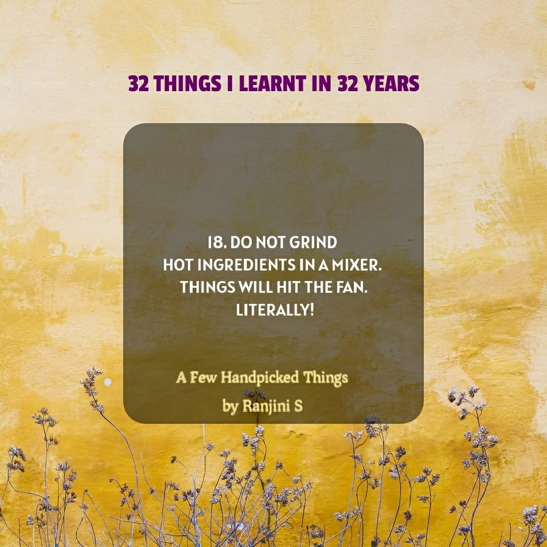 32 Things I Learnt in 32 Years